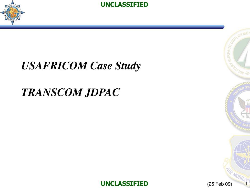 usafricom case study transcom jdpac l.