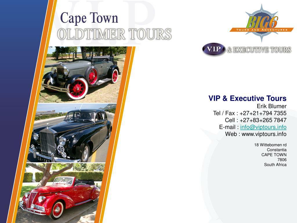 VIP & Executive Tours
