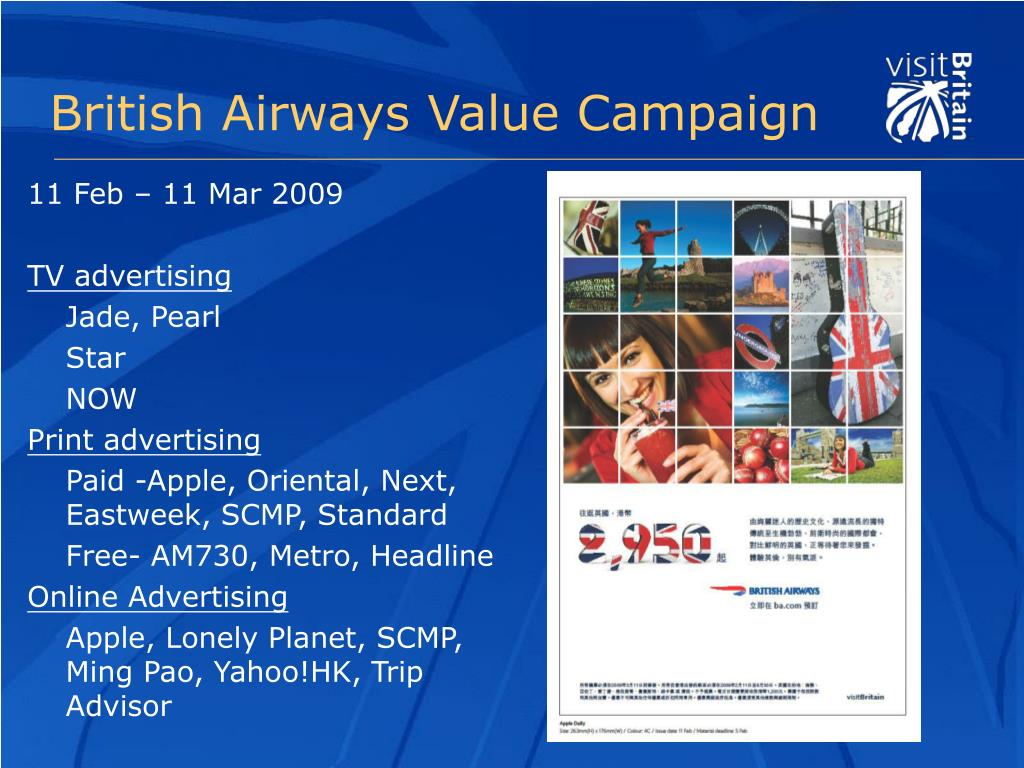 British Airways Value Campaign