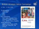 british airways value campaign