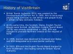 history of visitbritain