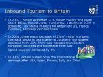 inbound tourism to britain