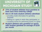 university of michigan study