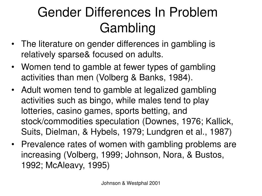 Gender Differences In Problem Gambling