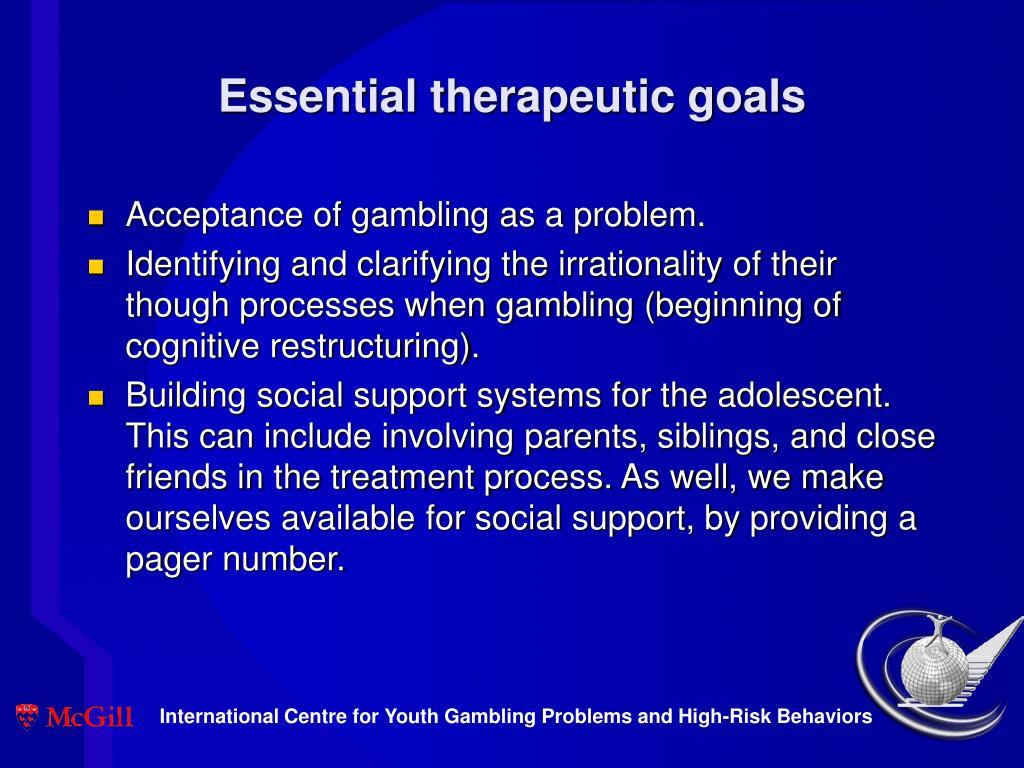 Essential therapeutic goals