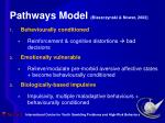 pathways model blaszczynski nower 2002