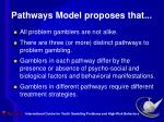 pathways model proposes that