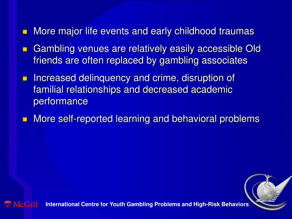 More major life events and early childhood traumas