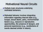 motivational neural circuits