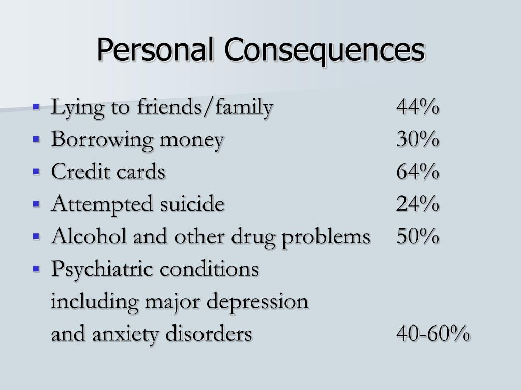 Personal Consequences