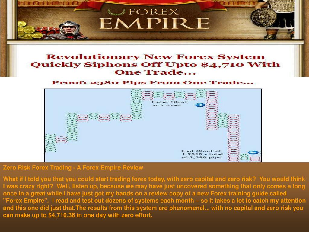 Zero Risk Forex Trading - A Forex Empire Review