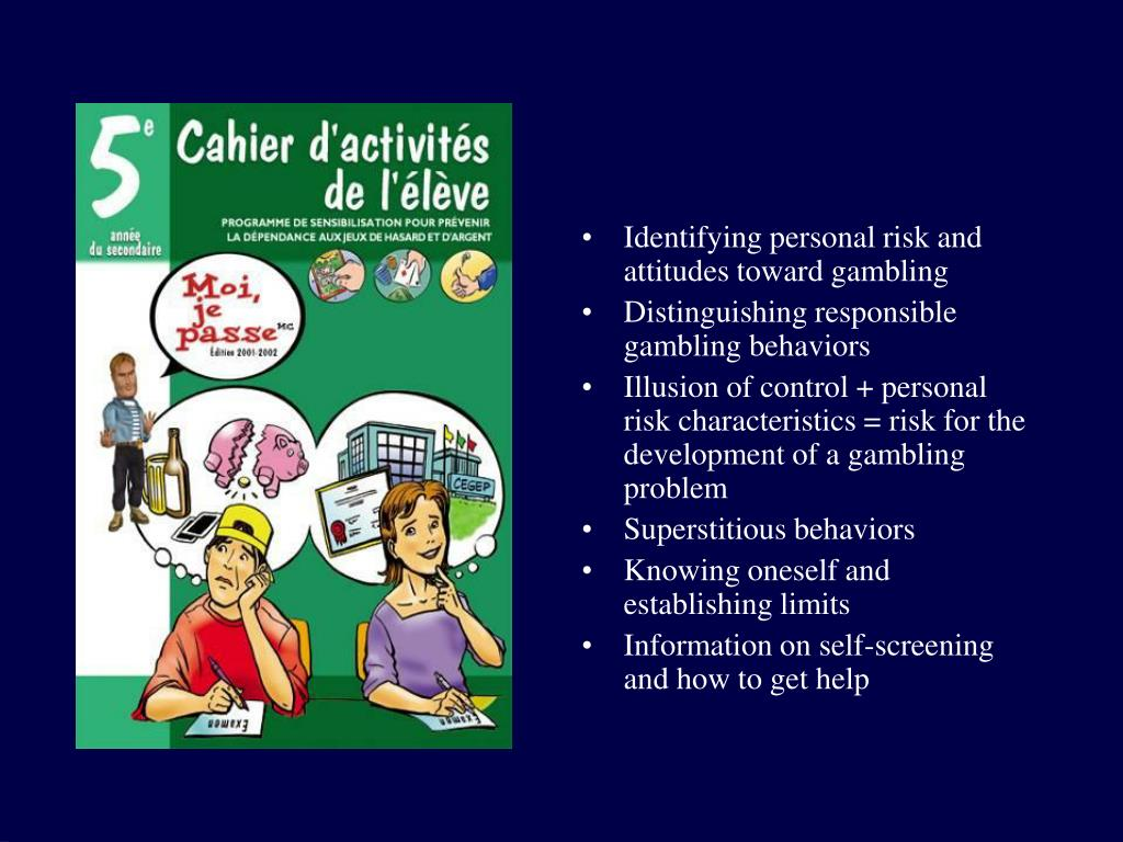 Identifying personal risk and attitudes toward gambling