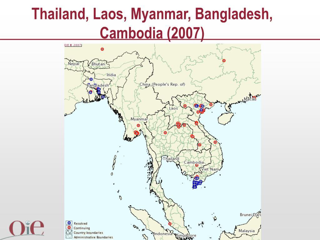 Thailand, Laos, Myanmar, Bangladesh, Cambodia (2007)