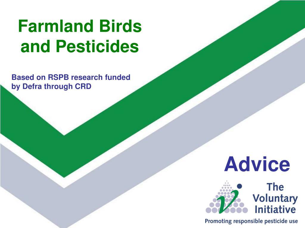 farmland birds and pesticides l.