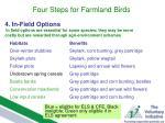 four steps for farmland birds11