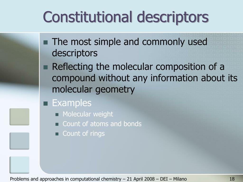 Constitutional descriptors