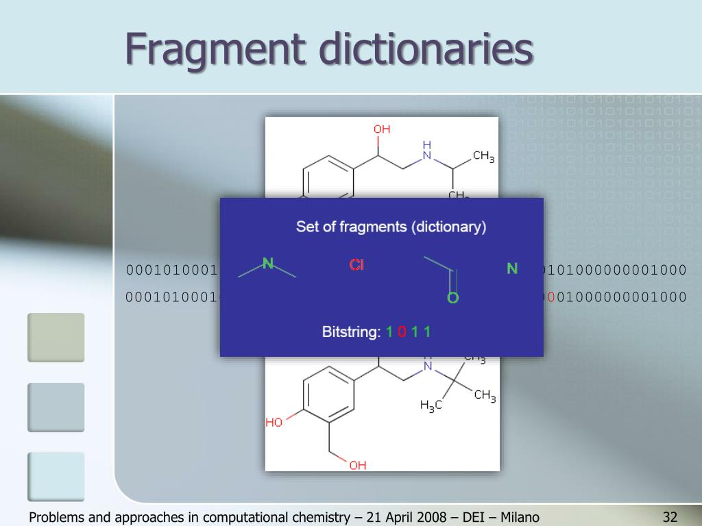 Fragment dictionaries