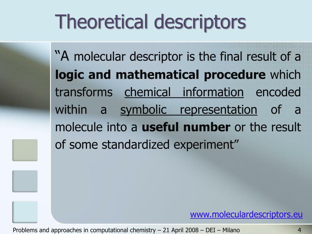 Theoretical descriptors
