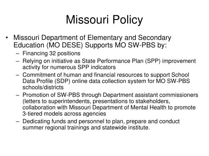 Missouri policy