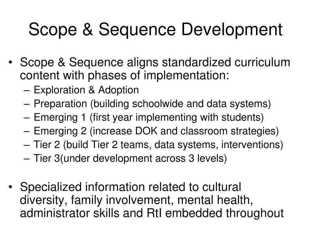 Scope & Sequence Development