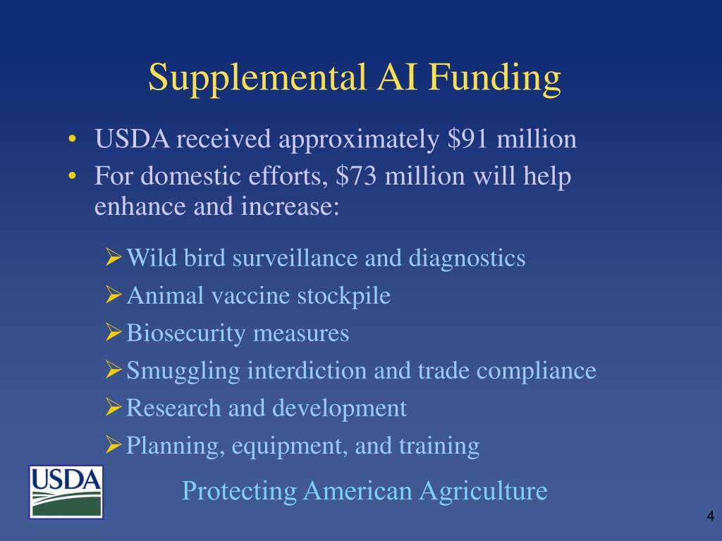 Supplemental AI Funding