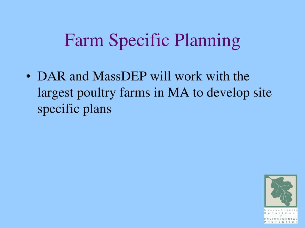 Farm Specific Planning