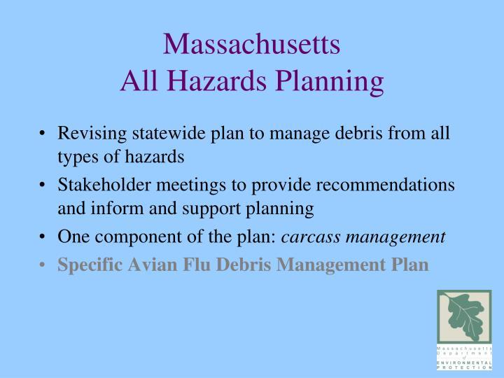 Massachusetts all hazards planning