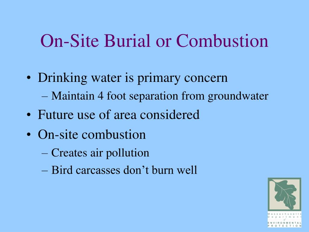 On-Site Burial or Combustion