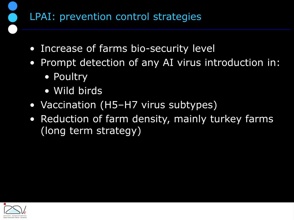 LPAI: prevention control strategies