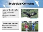 ecological concerns