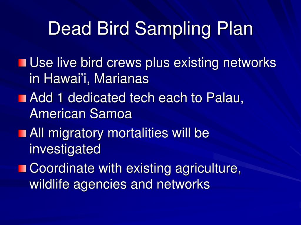 Dead Bird Sampling Plan