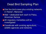 dead bird sampling plan