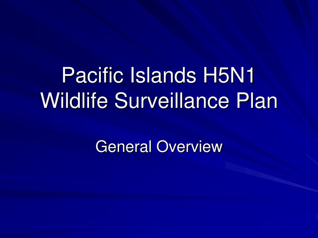 pacific islands h5n1 wildlife surveillance plan l.