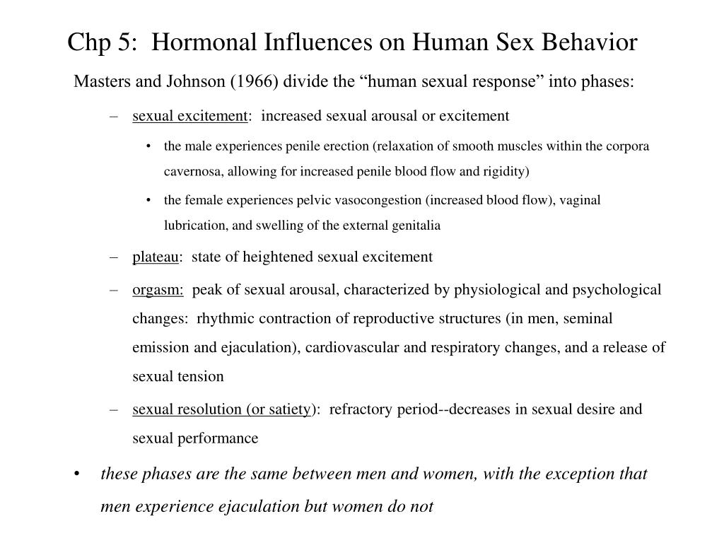 Human sexual arousal and response