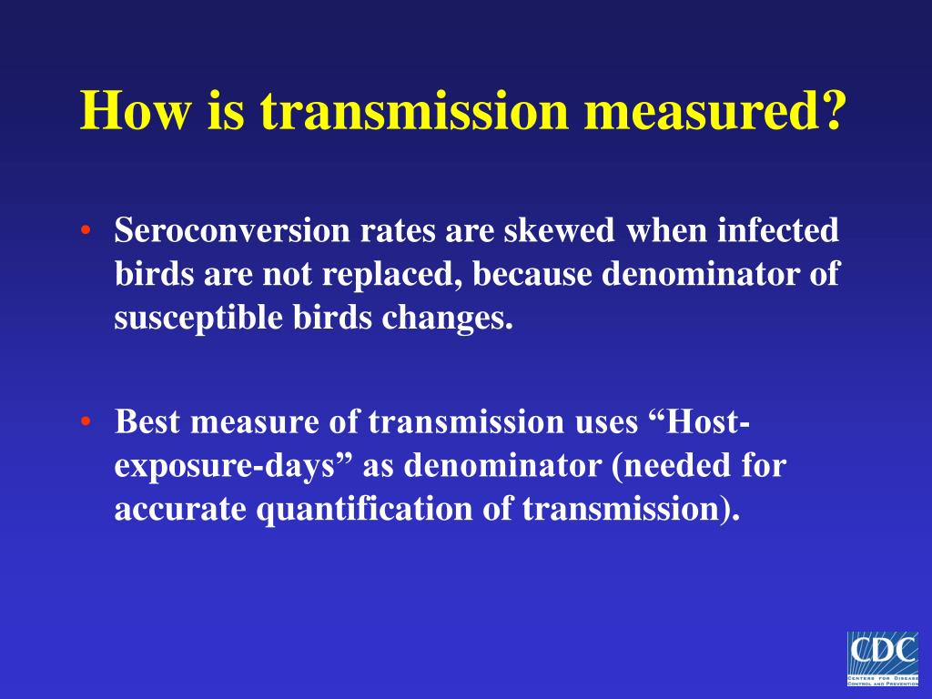 How is transmission measured?
