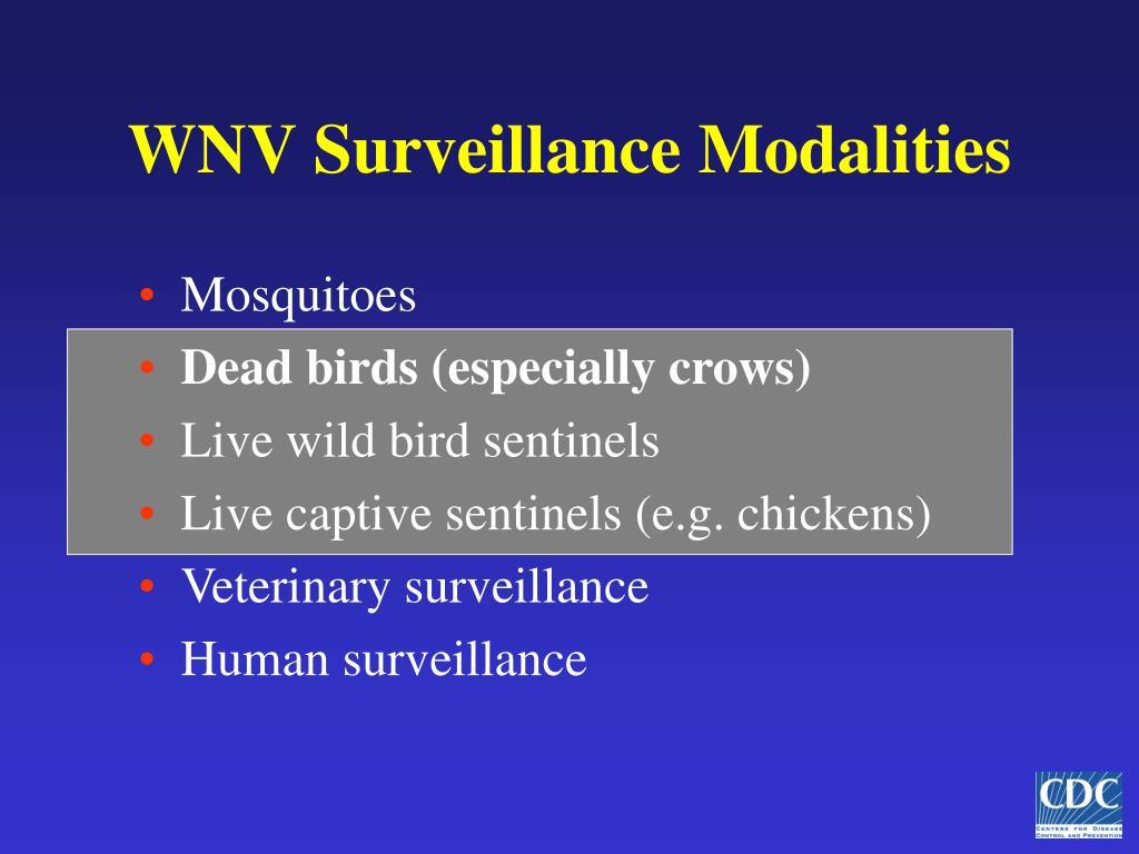 WNV Surveillance Modalities
