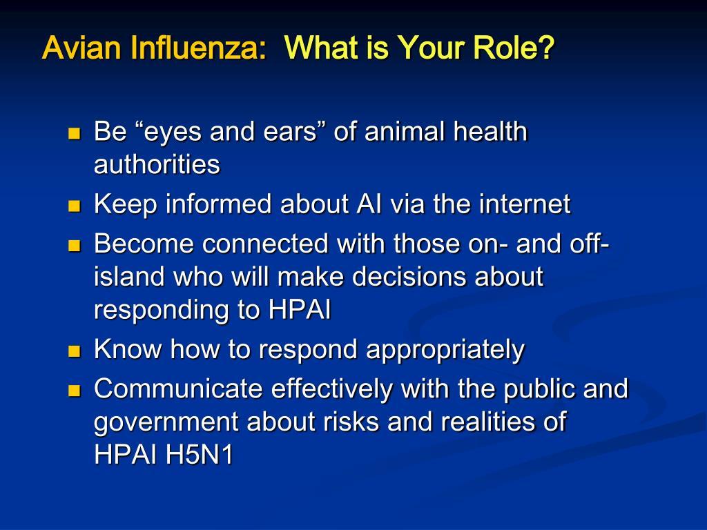 Avian Influenza: