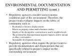 environmental documentation and permitting cont