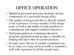 office operation