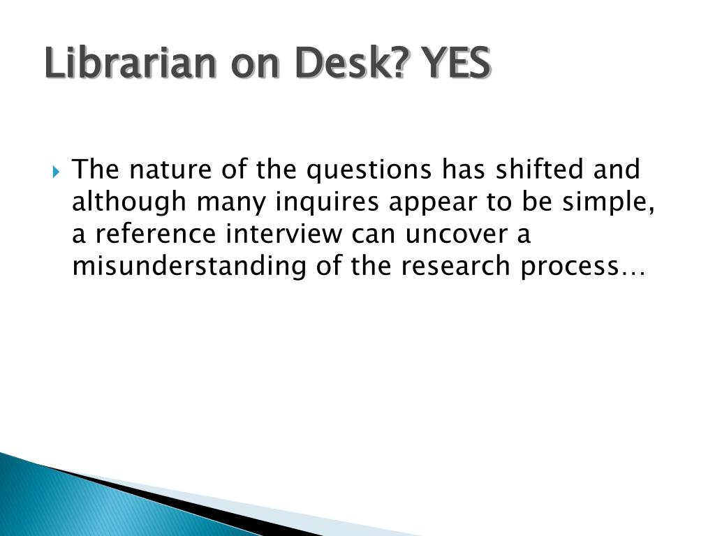 Librarian on Desk? YES