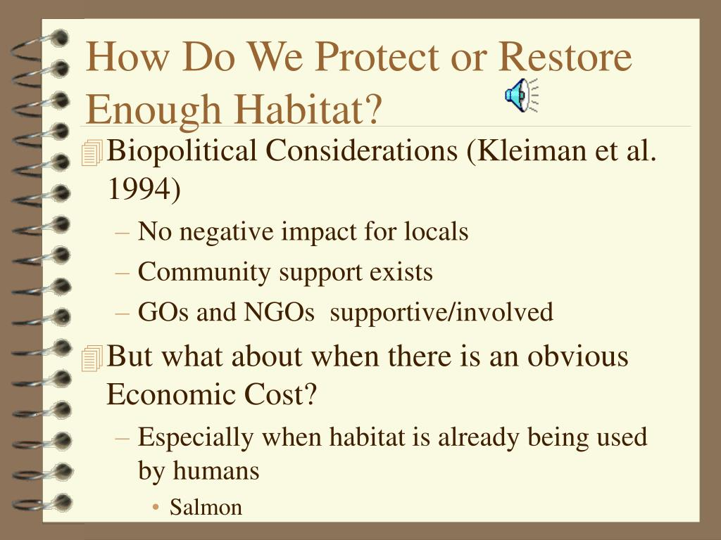 How Do We Protect or Restore Enough Habitat?
