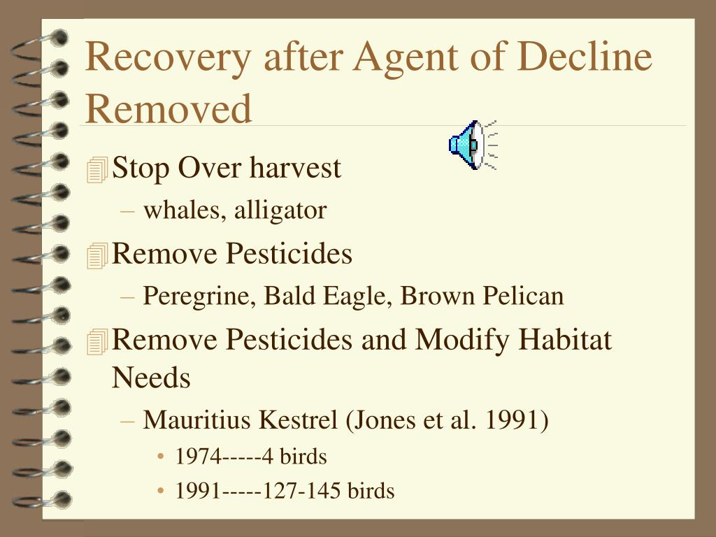 Recovery after Agent of Decline Removed