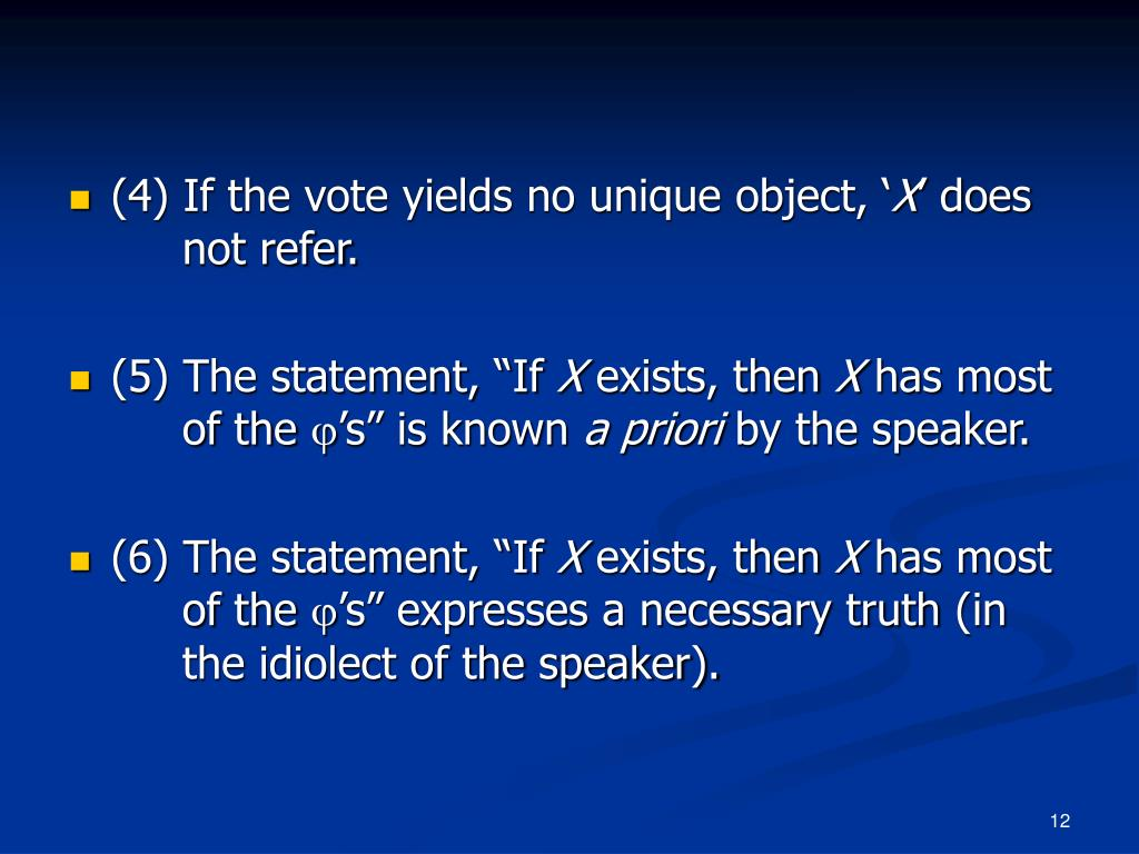 (4) If the vote yields no unique object, '