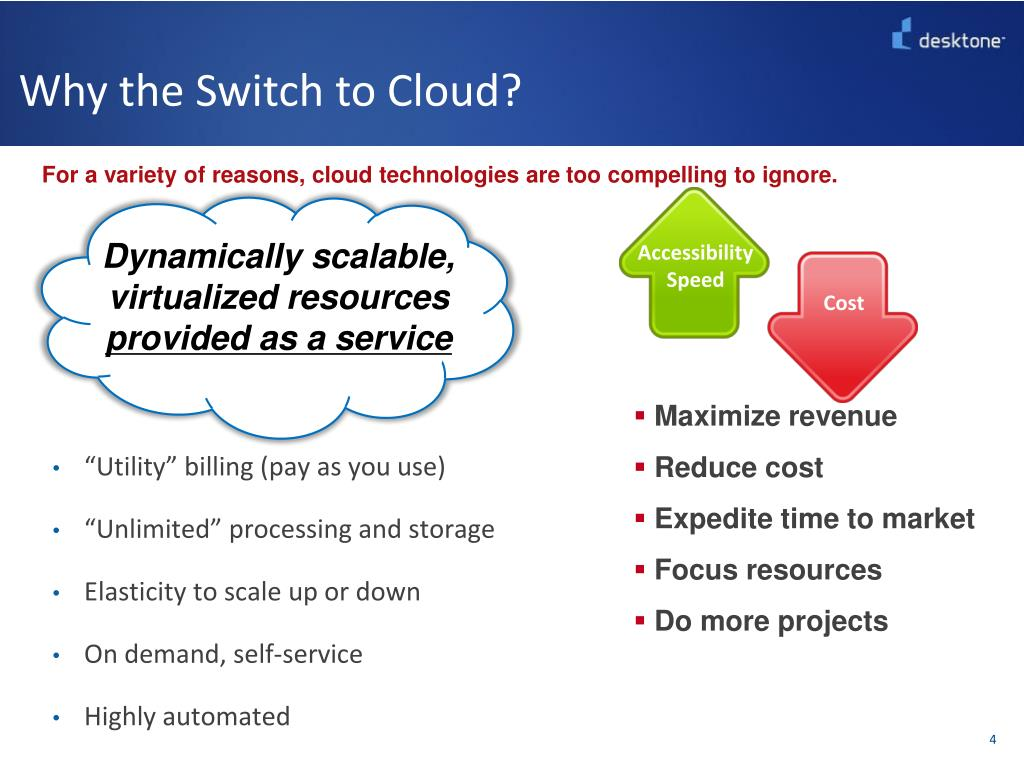 Why the Switch to Cloud?