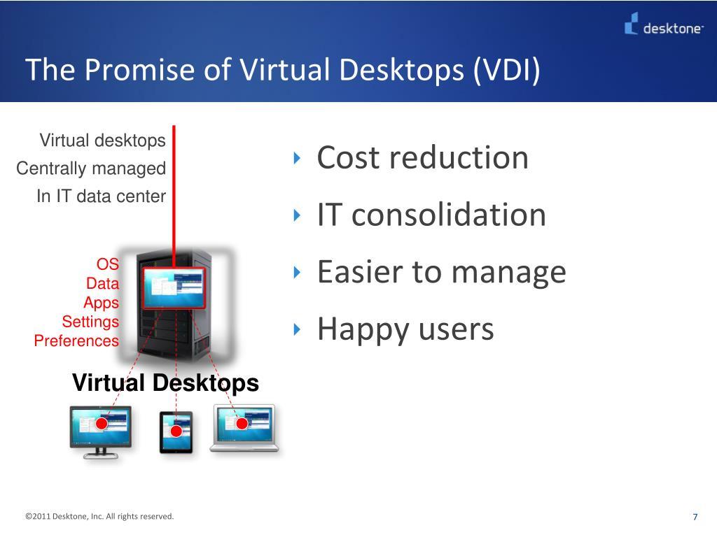 The Promise of Virtual Desktops (VDI)