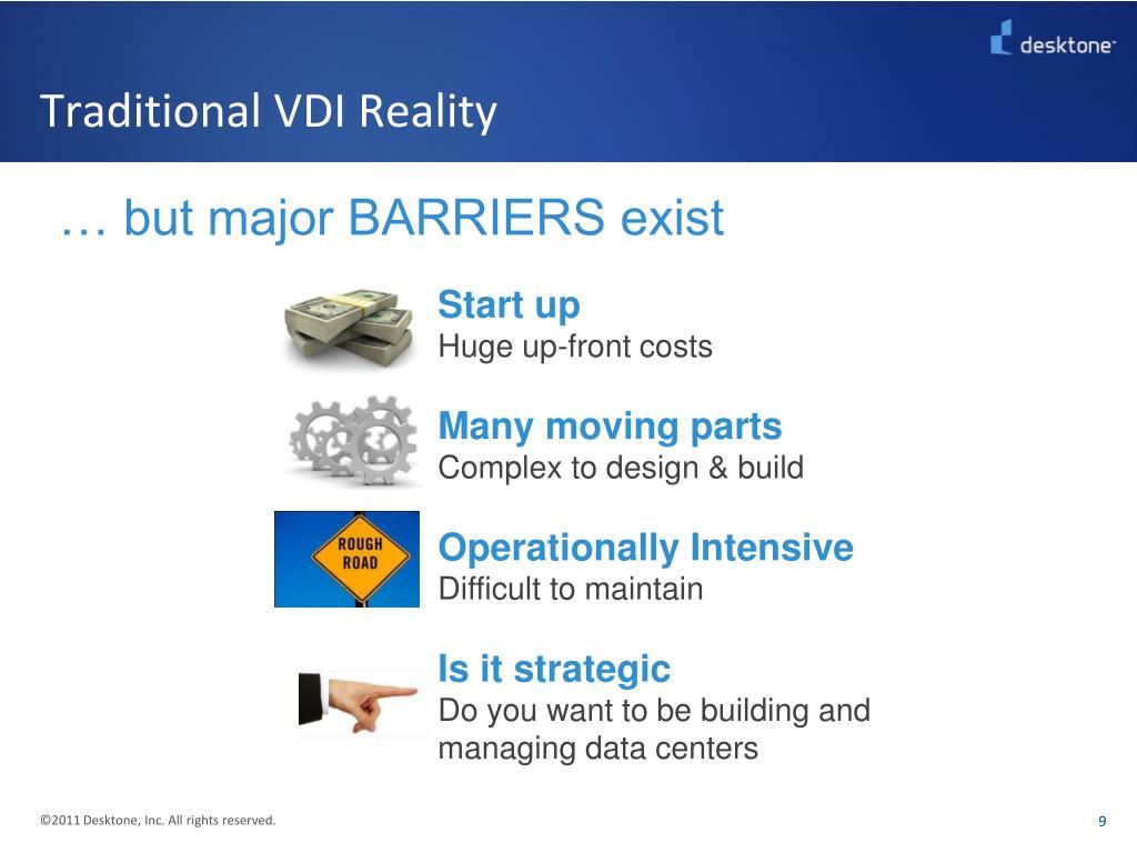 Traditional VDI Reality