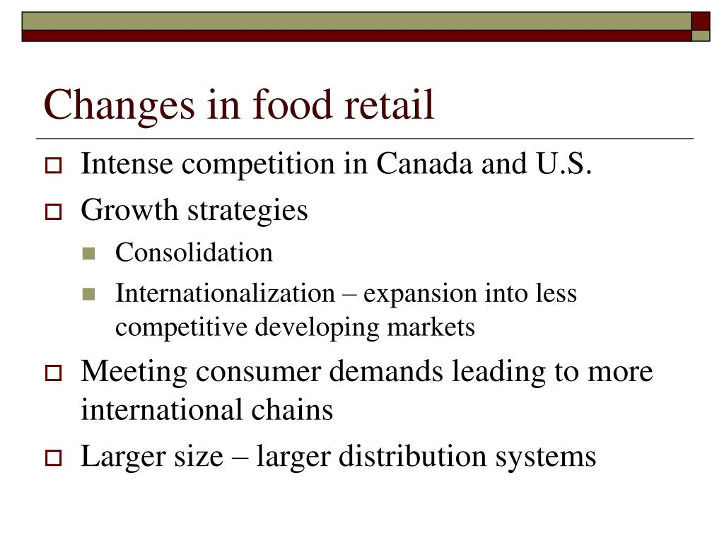 Changes in food retail