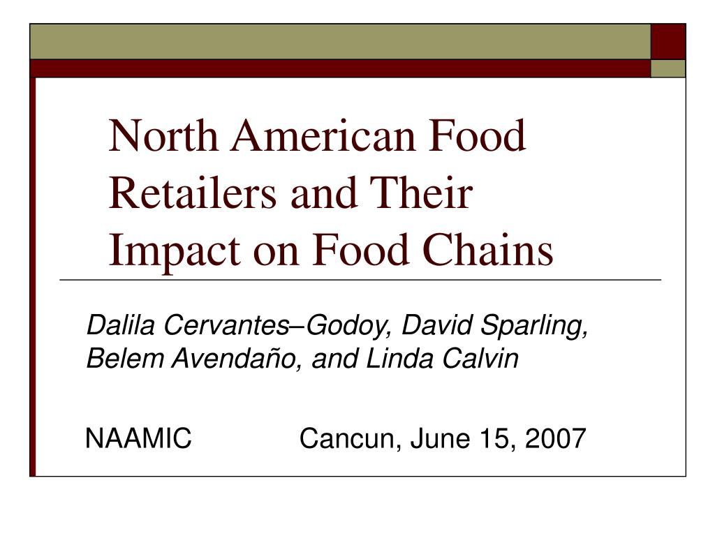 north american food retailers and their impact on food chains l.