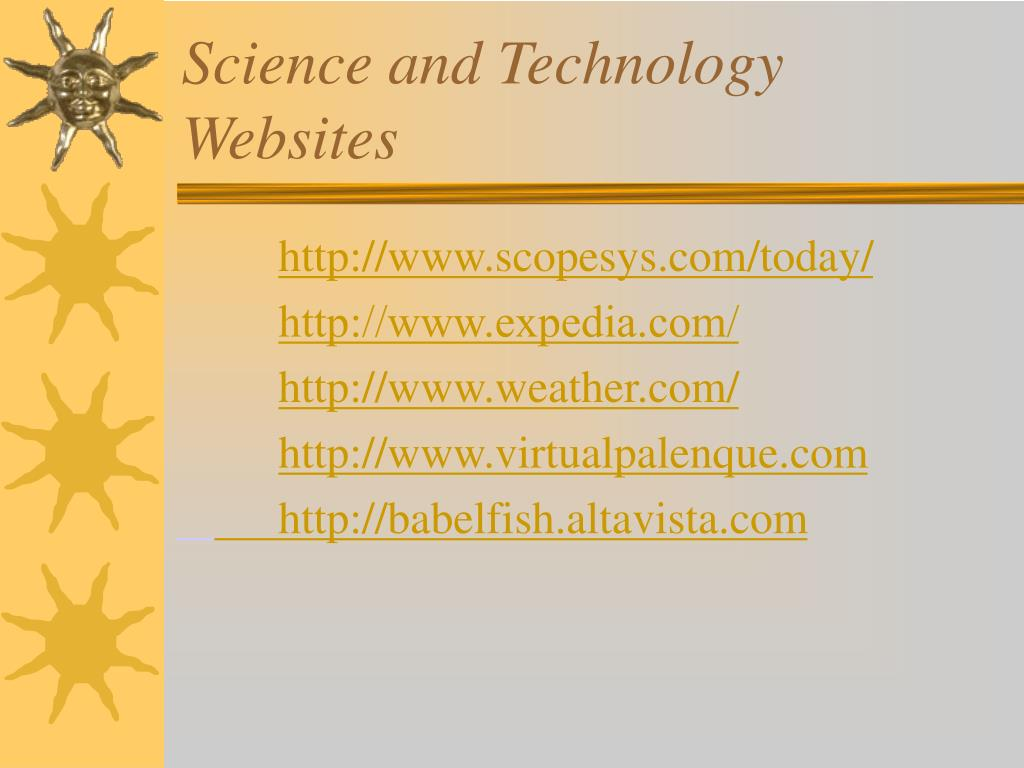 Science and Technology Websites