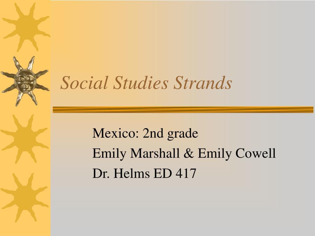 social studies strands l.